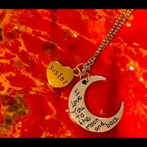 NWT- to the moon & back sister necklace